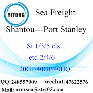 Shantou Port Sea Freight Shipping To Port Stanley